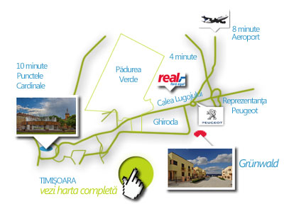 Harta Complexului Rezidential, Grunwald Timisoara